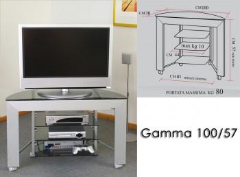 Porta tv con ruote - gamma 100