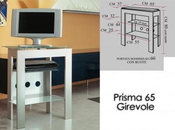 Porta tv con ruote Prisma 65