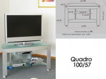 Porta tv con ruote Quadro...